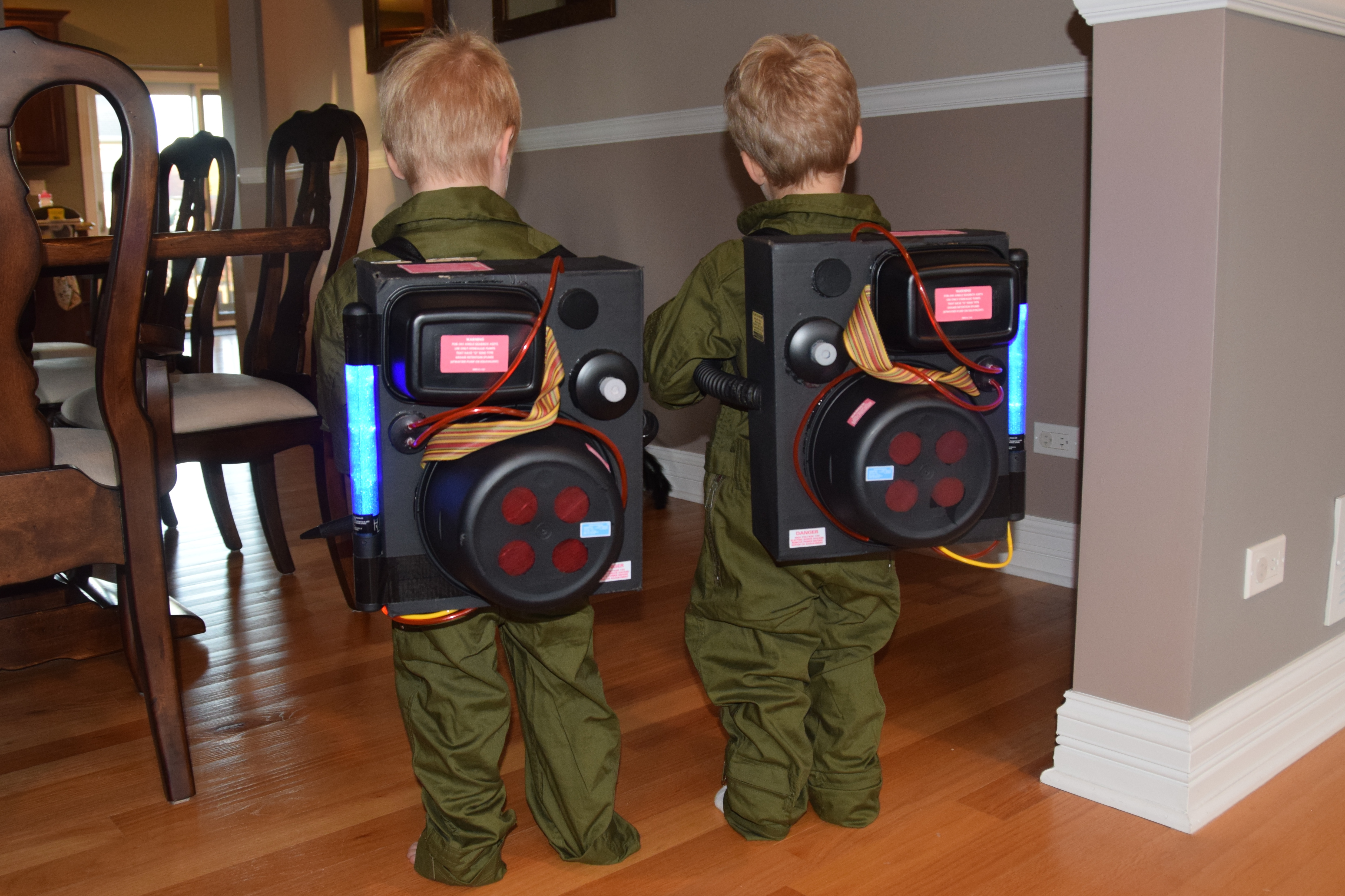 DIY Dollar Store Proton Pack | Projects In Parenting