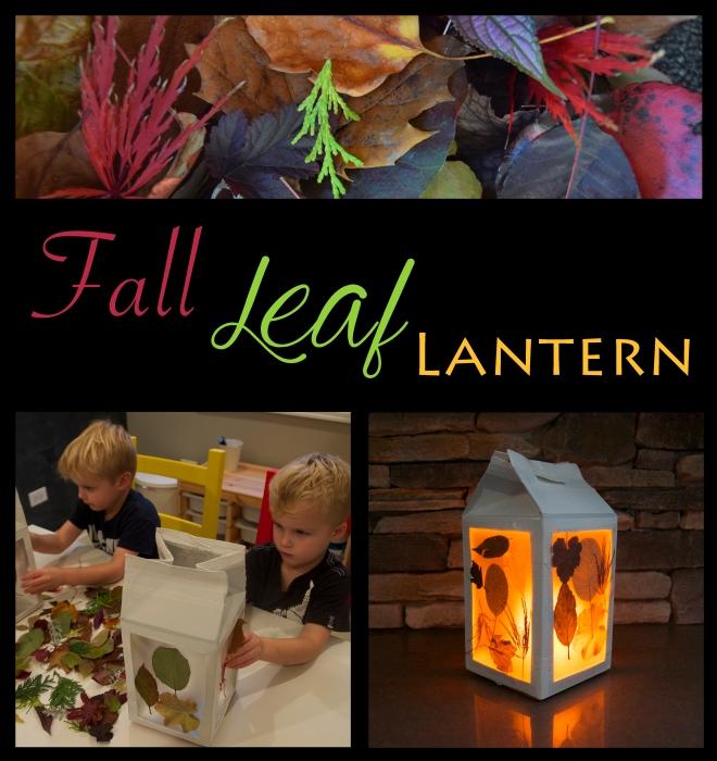 DIY Fall Leaf Lantern Kids Craft - projectsinparenting.com