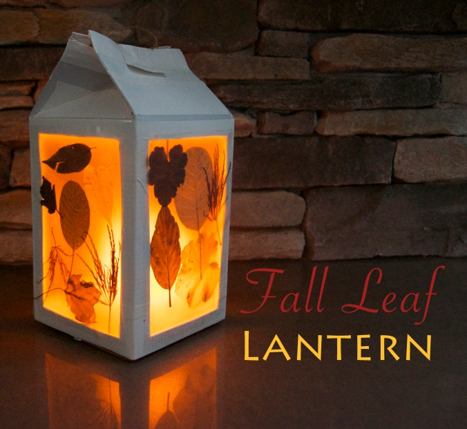 DIY Fall Leaf Lantern Kids Craft - projectsinparenting.com