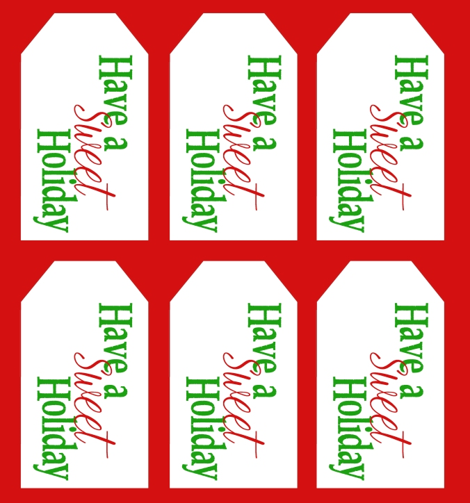 Have a Sweet Holiday Tag