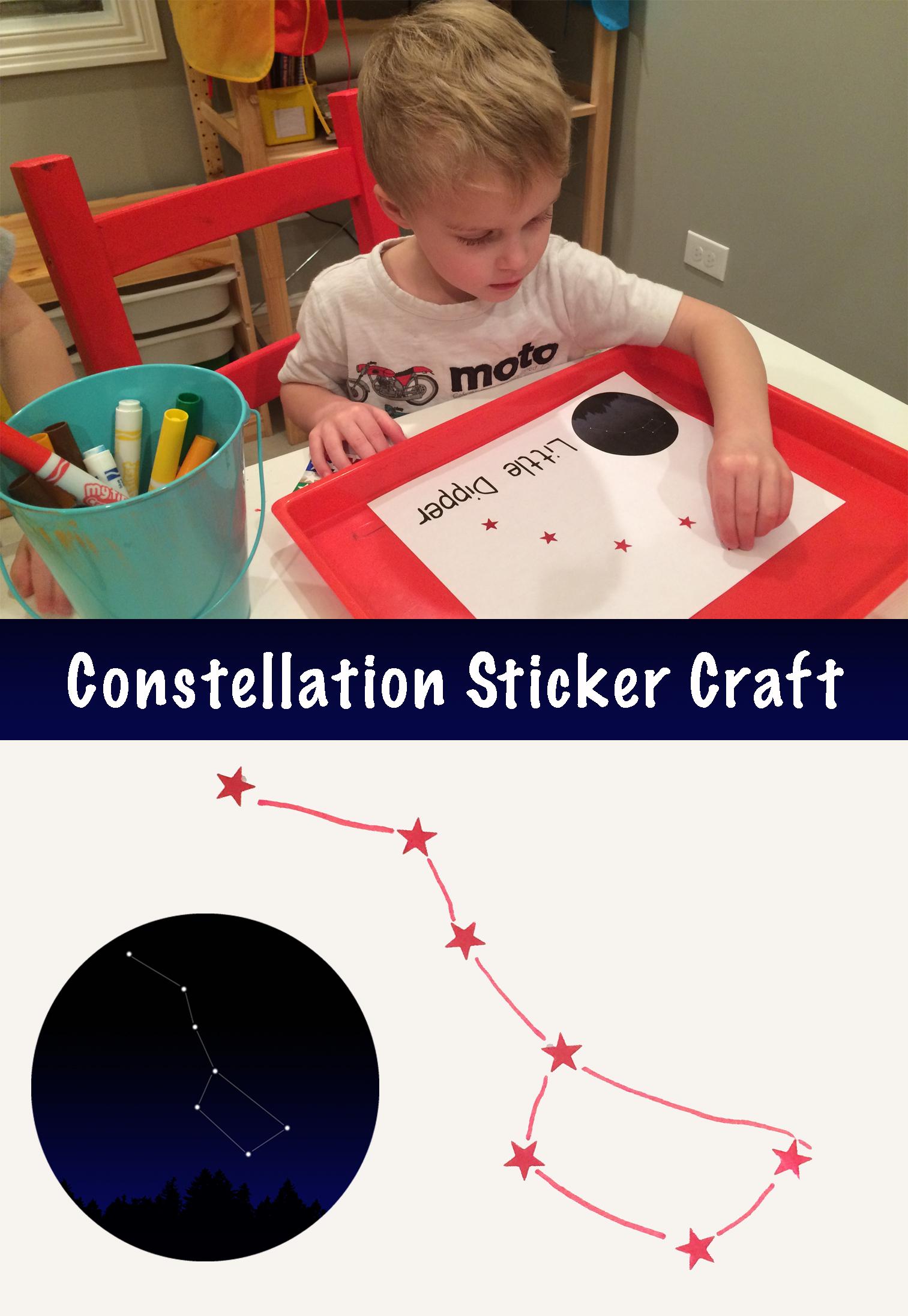 Constellation Sticker Craft - projectsinparenting