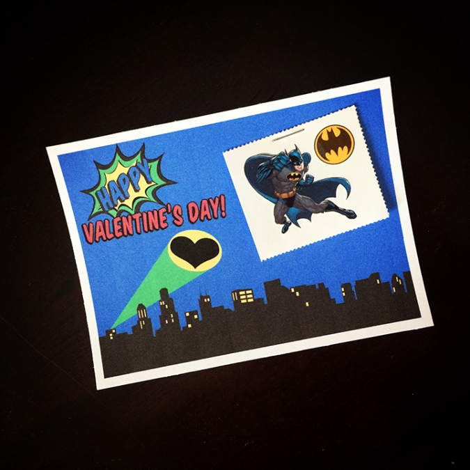 DIY Batman Tattoo Valentines Card