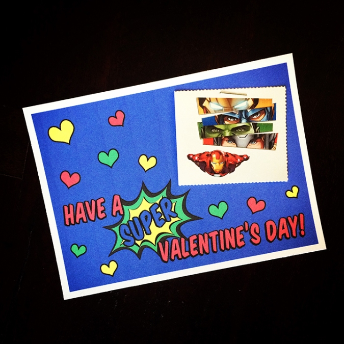 DIY Super Hero Tattoo Valentines Card