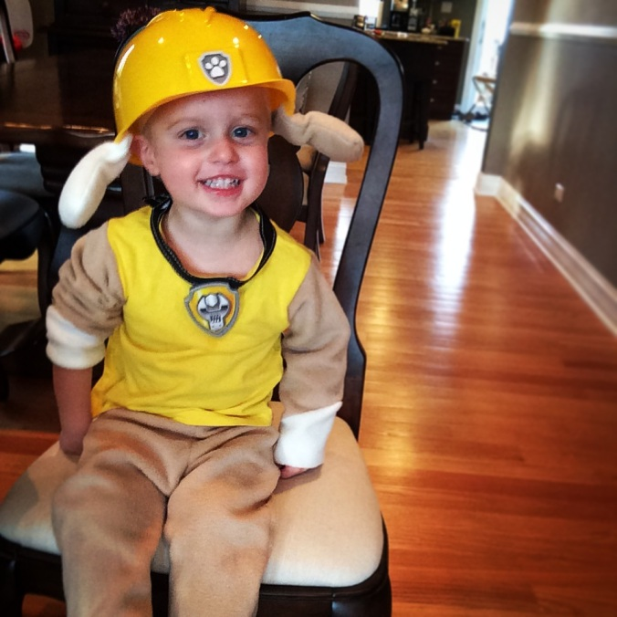 Rubble Paw Patrol Halloween Costume - projectsinparenting