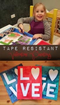 Tape Resistant Valentine Painting