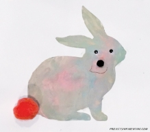 Bunny Silouette Painting 2