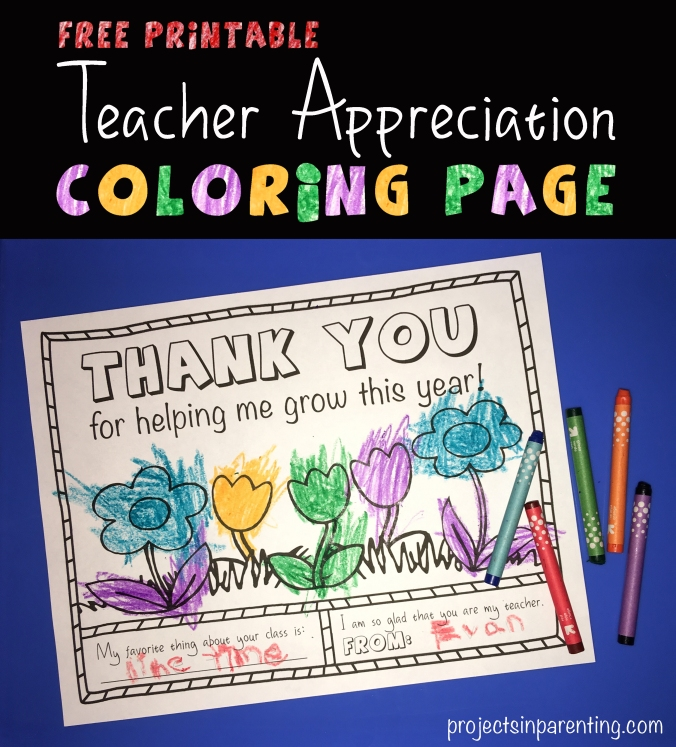 Top Teacher Appreciation Coloring Page | Projects In Parenting OM33