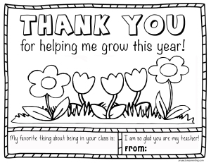 Teacher Appreciation Helping Me Grow Coloring Page 2