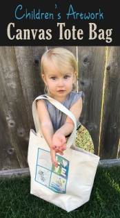 DIY Childrens Artwork Canvas Tote Bag