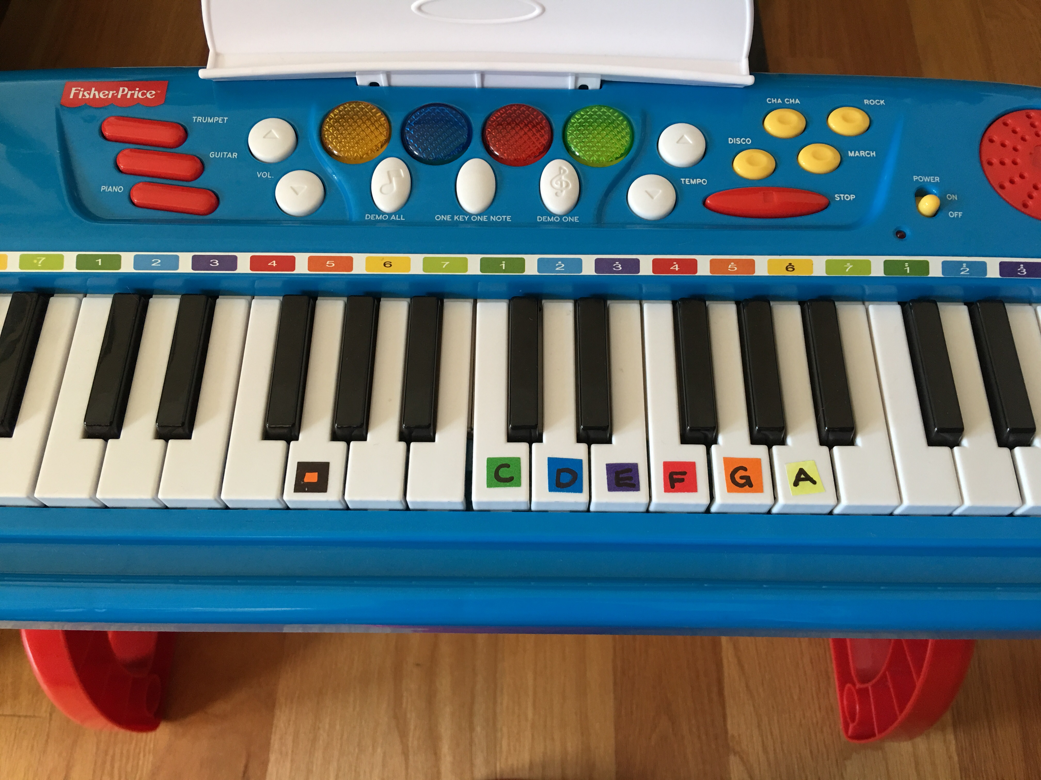 Color-Coded Beginner Piano Sheet Music | Projects In Parenting