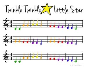 twinkle twinkle little star notes pdf