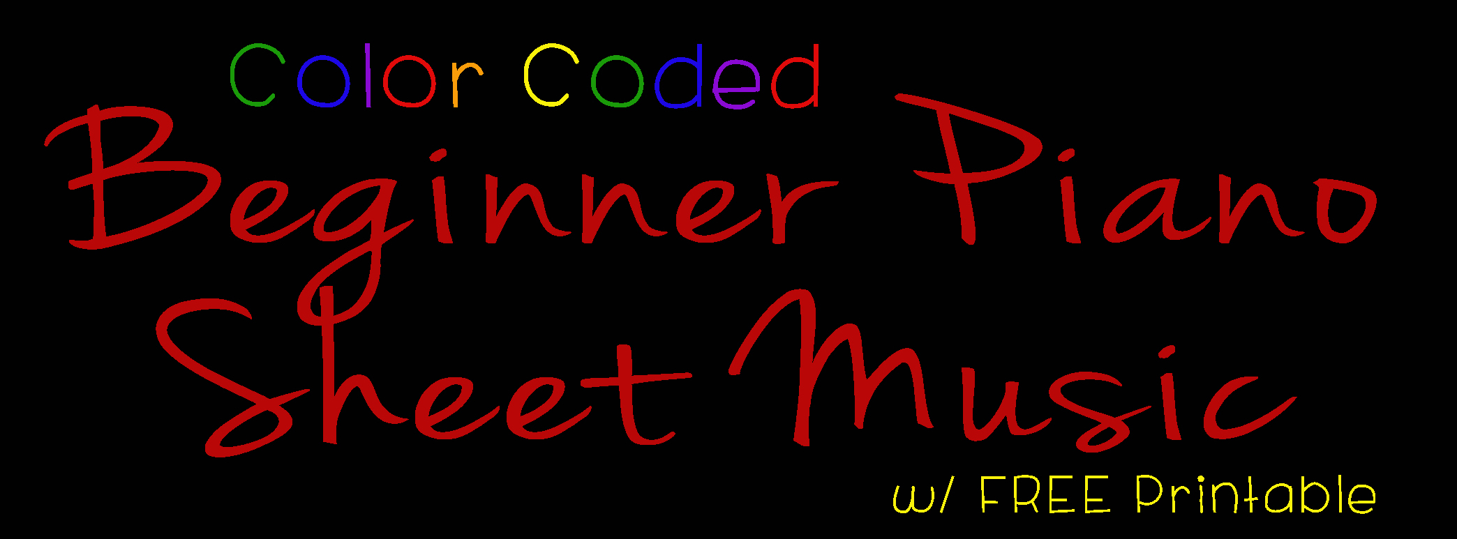 Color Coded Beginner Piano Sheet Music Banner - projectsinparenting.jpg
