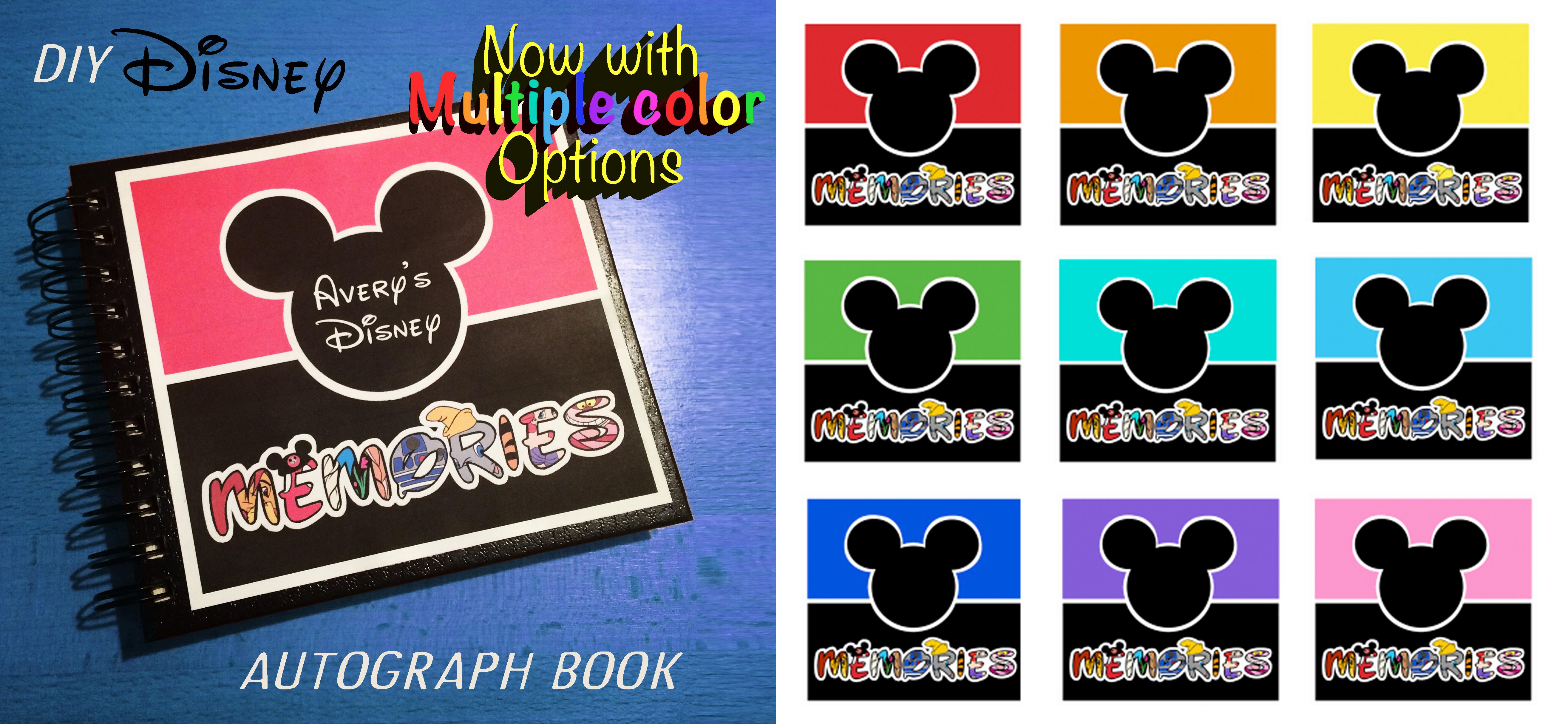 DIY Disney Autograph Memory Book - Multiple Colors Banner.jpg