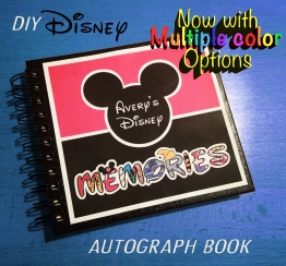 DIY Disney Autograph Memory Book - Multiple Colors