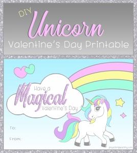 Unicorn Valentine Banner
