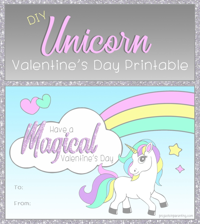 Unicorn Valentine Printable | Projects In Parenting