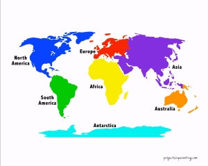 Hands-on Learning, Color Coded Continents, Countries and Flags - projectsinparenting.com