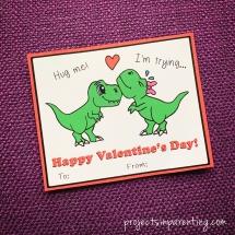 dinosaur t-rex valentine banner