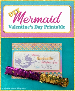 DIY Mermaid Valentine Printable - Mermaid Valentine's Day Card