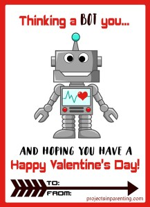 Build a Robot Papercraft Valentine with Free Printable - projectsinparenting.com