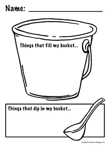 Have You Filled a Bucket Today - Bucket Filling Worksheet - Free Printable - projectsinparenting.com