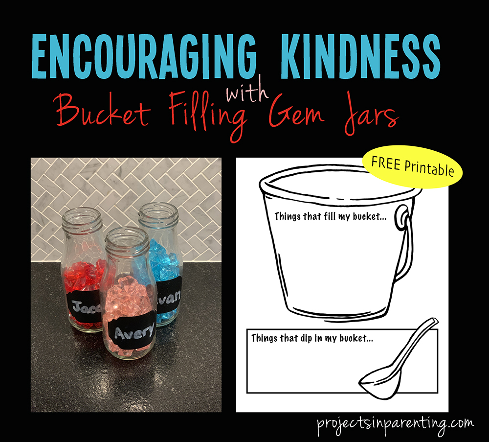 Encouraging Kindness with Bucket Filling Gem Jars