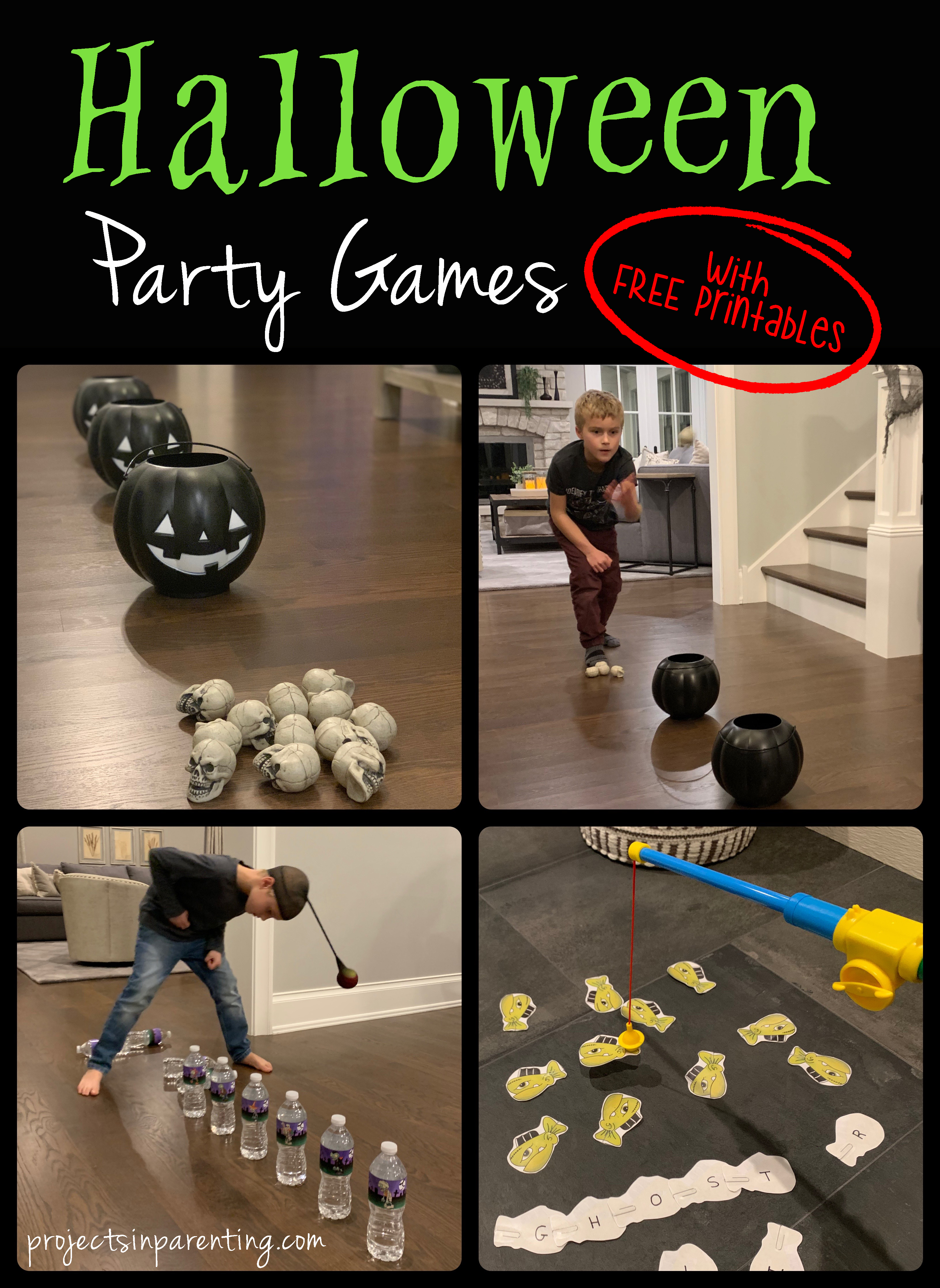 Halloween Party Games with FREE Printables - projectsinparenting.com