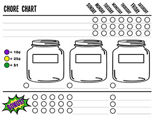 Magnetic Chore Chart Free Printable - projectsinparenting.com