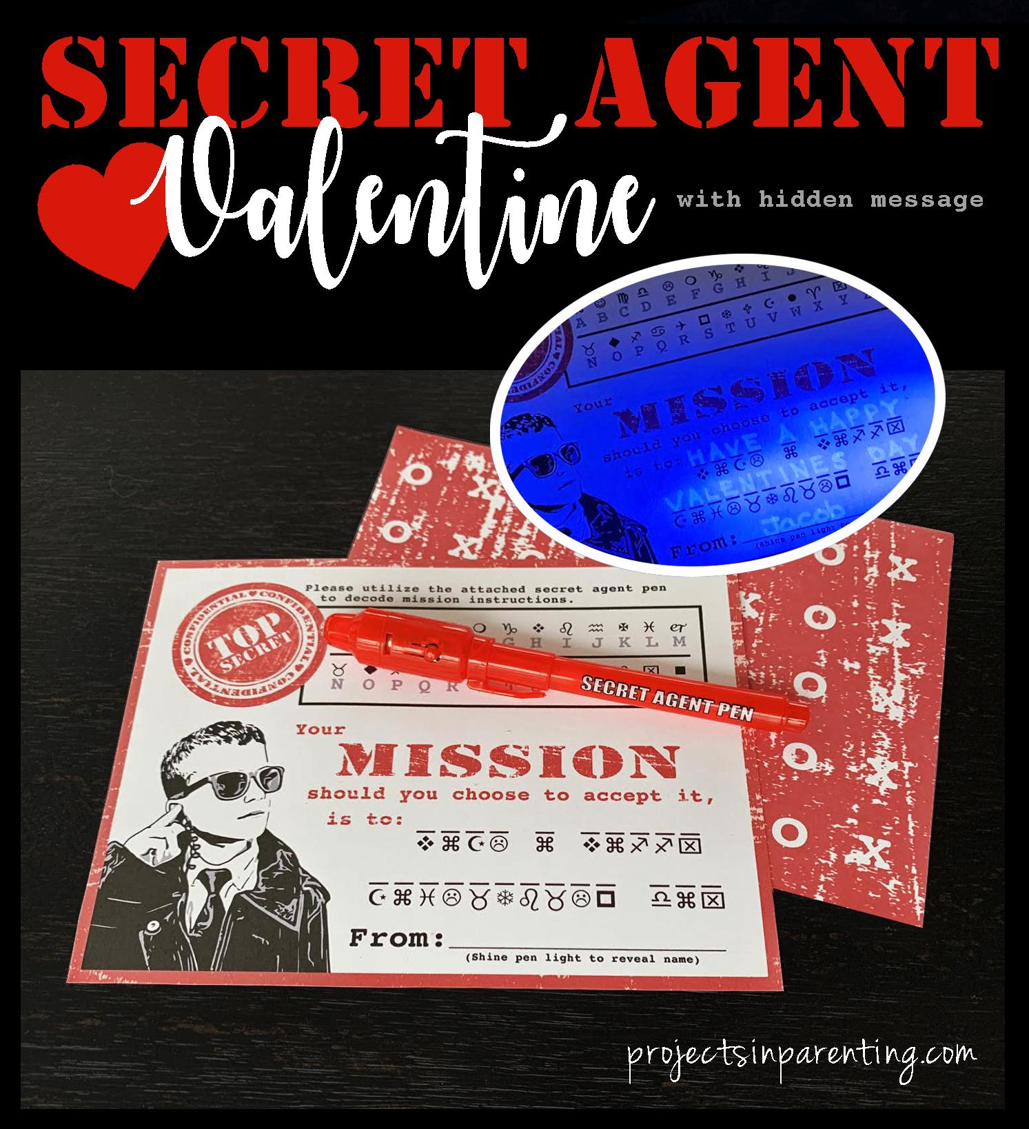 Secret Agent Valentine Banner