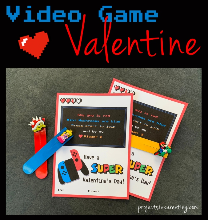 Video Game Valentine Banner