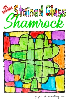 Stained Glass Shamrock Banner