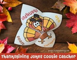 Thanksgiving Jokes Cootie Catcher Fortune Teller